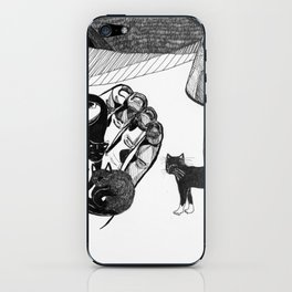 pocket cats iPhone Skin