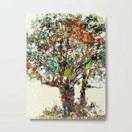Tree Mosaic Metal Print
