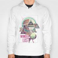 wanderlust Hoodies featuring Wanderlust by Kristen Williams