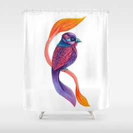 Looking Toward a Feathered Future Shower Curtain