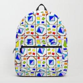 symetric tartan and gingham 21 -vichy, gingham,strip,square,geometric, sober,tartan Backpack