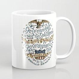 small government, larger freedom Coffee Mug