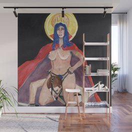 Her Royal Steed Wall Mural