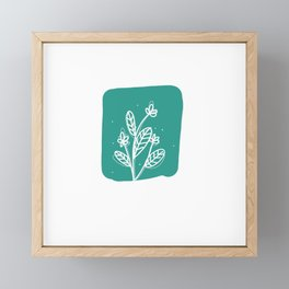 blue flower Framed Mini Art Print