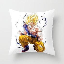 Goku Super Saiyan 2 Throw Pillow