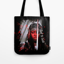 Michonne The Walking Dead Start to Finish Tote Bag