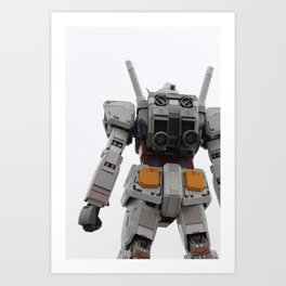 Gundam to the rescue! Art Print