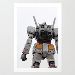 Gundam to the rescue! Art Print