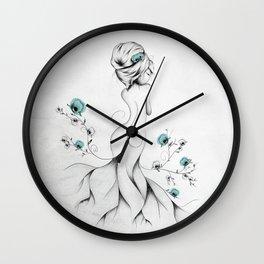 Poppy Poem Wall Clock