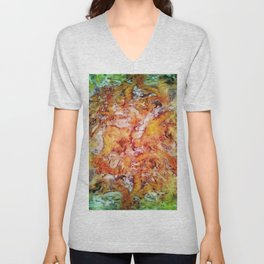 Floral escalator Unisex V-Neck