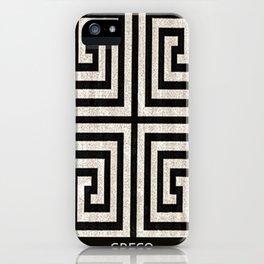 Greco minimal iPhone Case