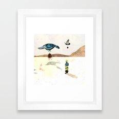Past Framed Art Print