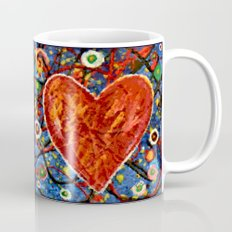 Abstract Painted Heart Mug