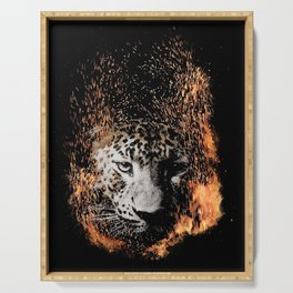 Leopard Blaze Serving Tray