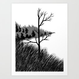 Tree Over the Water Art Print