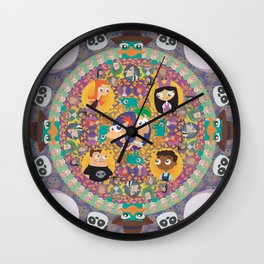 Phineas and Ferb Mandala Wall Clock
