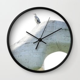 henry's heron Wall Clock