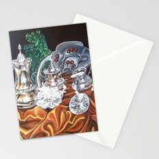 study of silver Stationery Cards