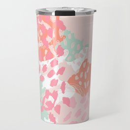 Billie - abstract gender neutral trendy painting soft colors bright happy nursery baby art Travel Mug