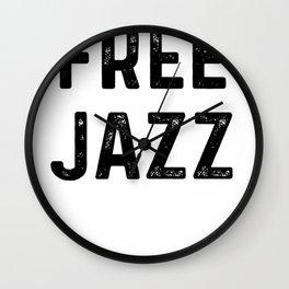 Free Jazz Wall Clock