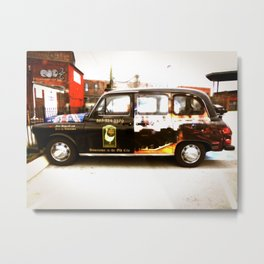 British Taxi Metal Print