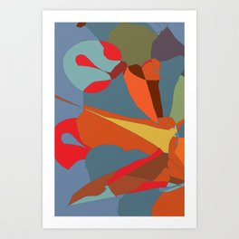 Abstract from autumn colours and pumpkin Art Print