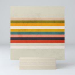 modern abstract stripe geometric Mini Art Print