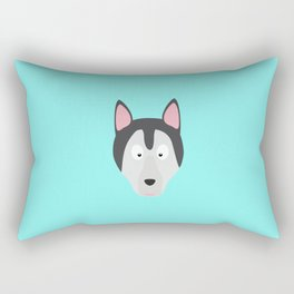 Cute Dog Face T-Shirt for Women, Men and Kids Rectangular Pillow