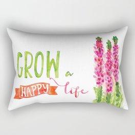 Grow a happy life Rectangular Pillow