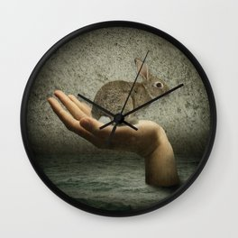 Rabbit in your hand - wallart Wall Clock