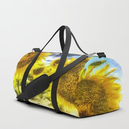Summers Day Sunflowers Art Duffle Bag