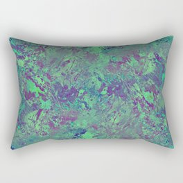 Cool And Calm - Abstract blue and purple painting, icy, chilled out, calming, relaxing artwork Rectangular Pillow