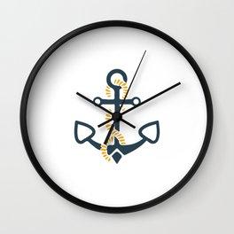 Anchor Ahoi Sailorboat marina Wall Clock