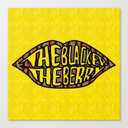 The Blacker the Berry Tribe called quest Canvas Print