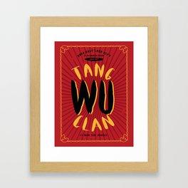 Wu Tang Clan Gig Poster Framed Art Print