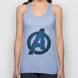 UNREAL PARTY 2012 AVENGERS LOGO FLYERS Unisex Tank Top