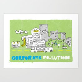Corporate Pollution Art Print