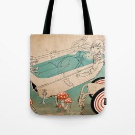 Bathing Woman Tote Bag