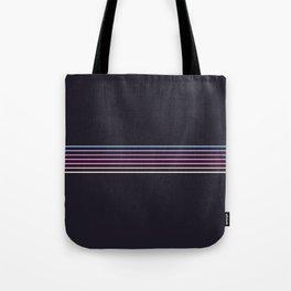 Pink Colored Retro Stripes Tote Bag