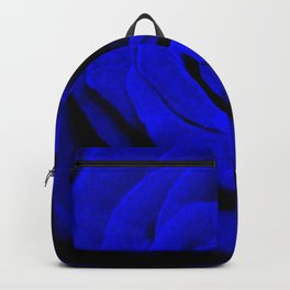 Expansion Blue rose flower Backpack