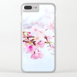 Japanese cherry-blossom tree, 'Oh-kanzakura' Clear iPhone Case