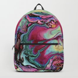 Colorful abstract marble Backpack