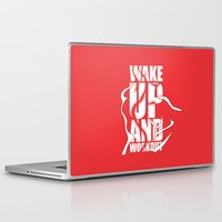 workout Laptop & iPad Skins featuring Lab No.4 - Wake Up And Workout Inspirational Quotes poster by Lab No. 4