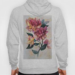 Fresh Tea Roses Hoody