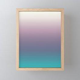 Ombré, Purple, Blue, Green, Pink, Teal, Color Blend Framed Mini Art Print