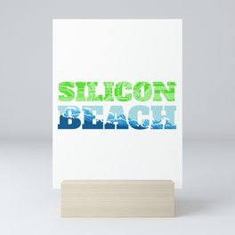 Silicon Beach Wave Mini Art Print
