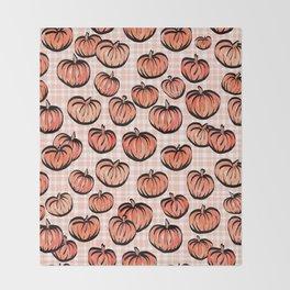 Pumpkin Patch Plaid Throw Blanket
