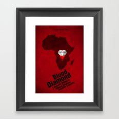 Blood Diamond Poster Framed Art Print