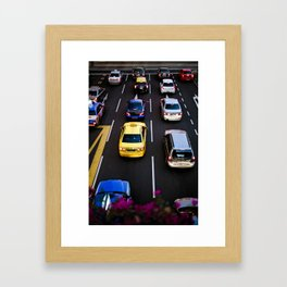 cars and traffic Framed Art Print
