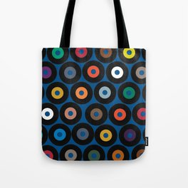 VINYL blue Tote Bag